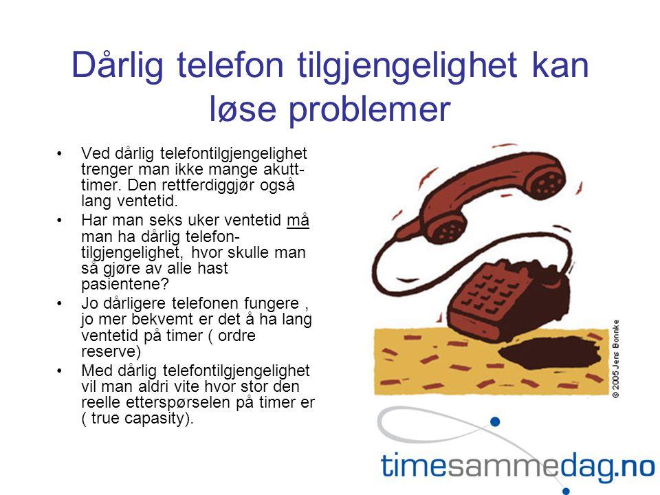 Dårlig telefon tilgjengelighet kan løse problemer