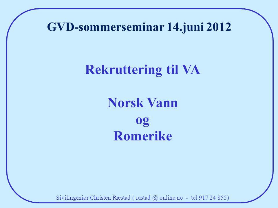 GVD-sommerseminar 14.juni 2012