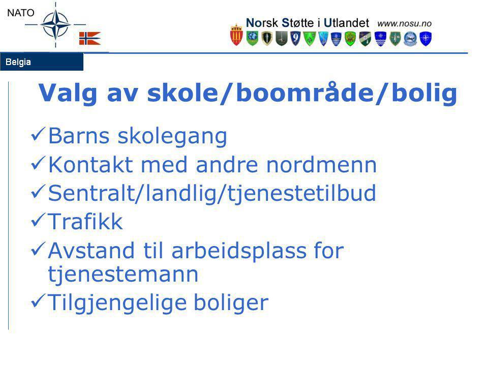 Valg av skole/boområde/bolig