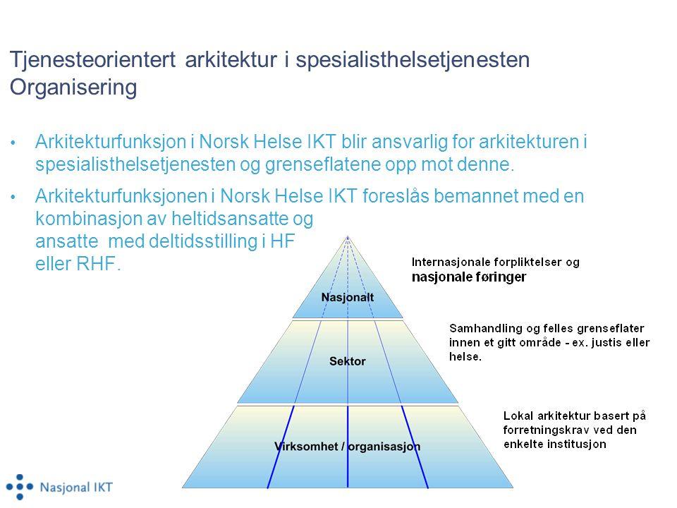 Tjenesteorientert arkitektur i spesialisthelsetjenesten Organisering