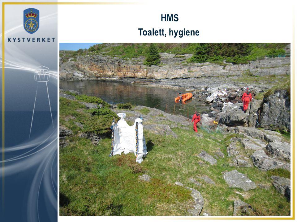 HMS Toalett, hygiene