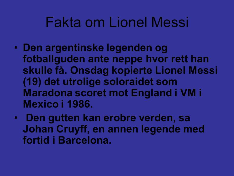 Fakta om Lionel Messi