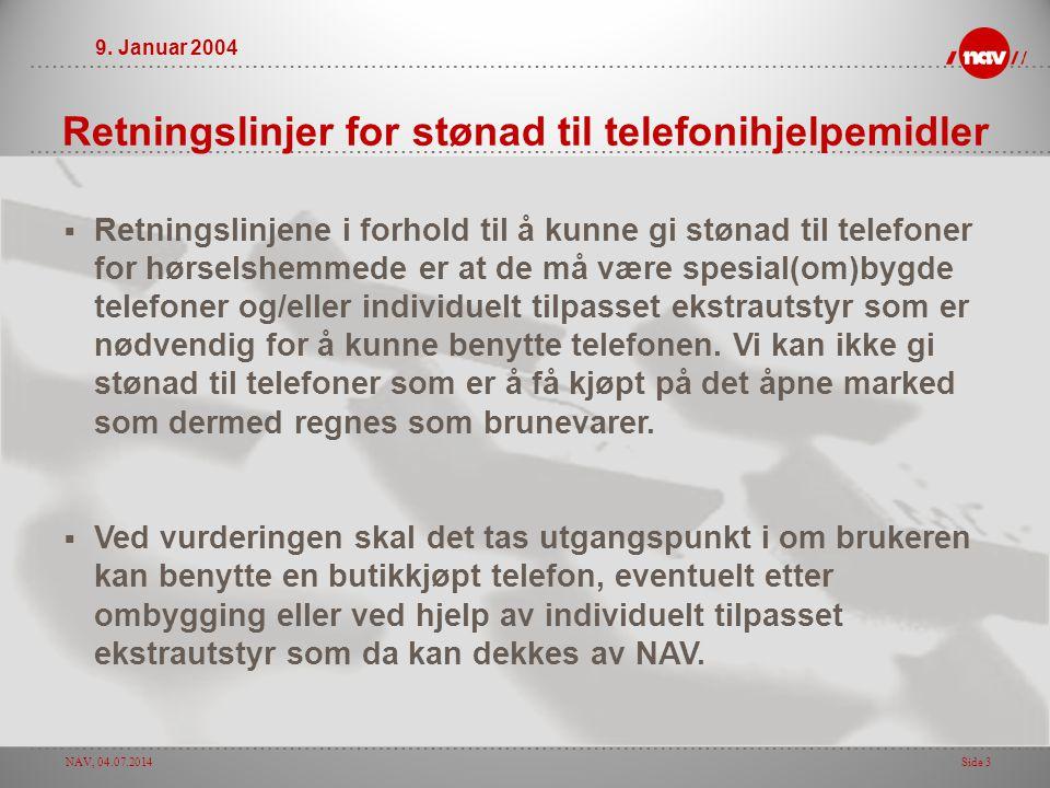 Retningslinjer for stønad til telefonihjelpemidler