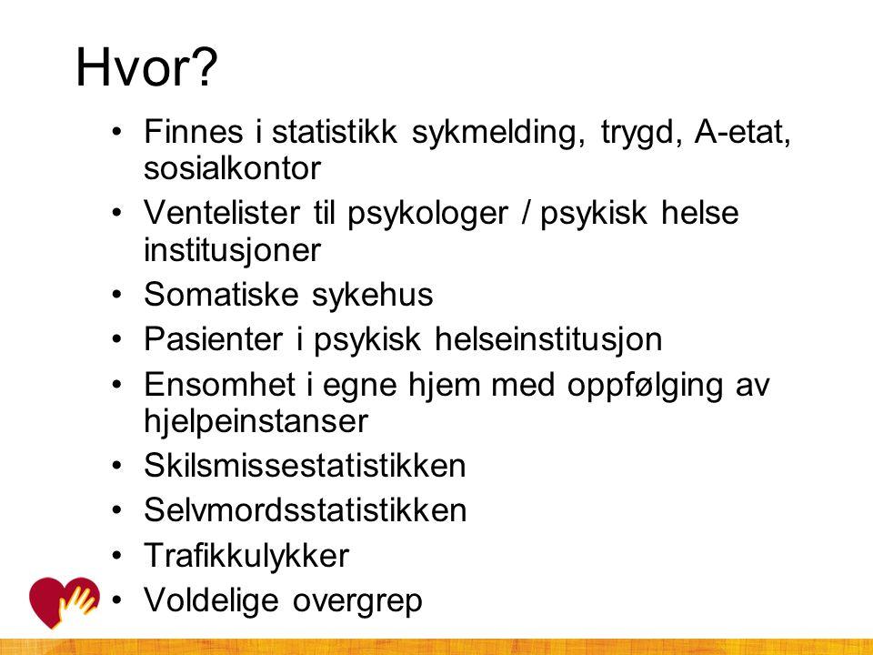 Hvor Finnes i statistikk sykmelding, trygd, A-etat, sosialkontor