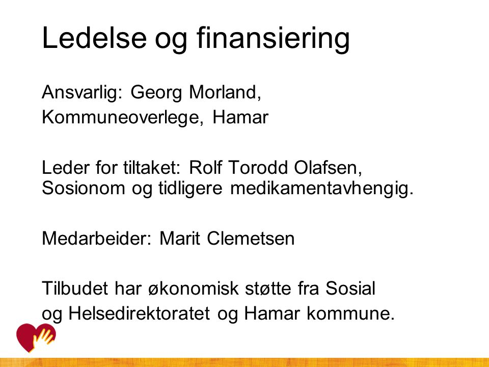 Ledelse og finansiering