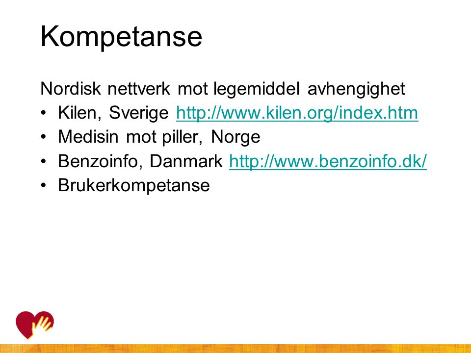 Kompetanse Nordisk nettverk mot legemiddel avhengighet