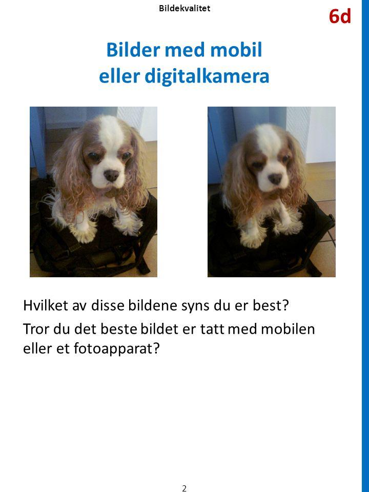 Bilder med mobil eller digitalkamera
