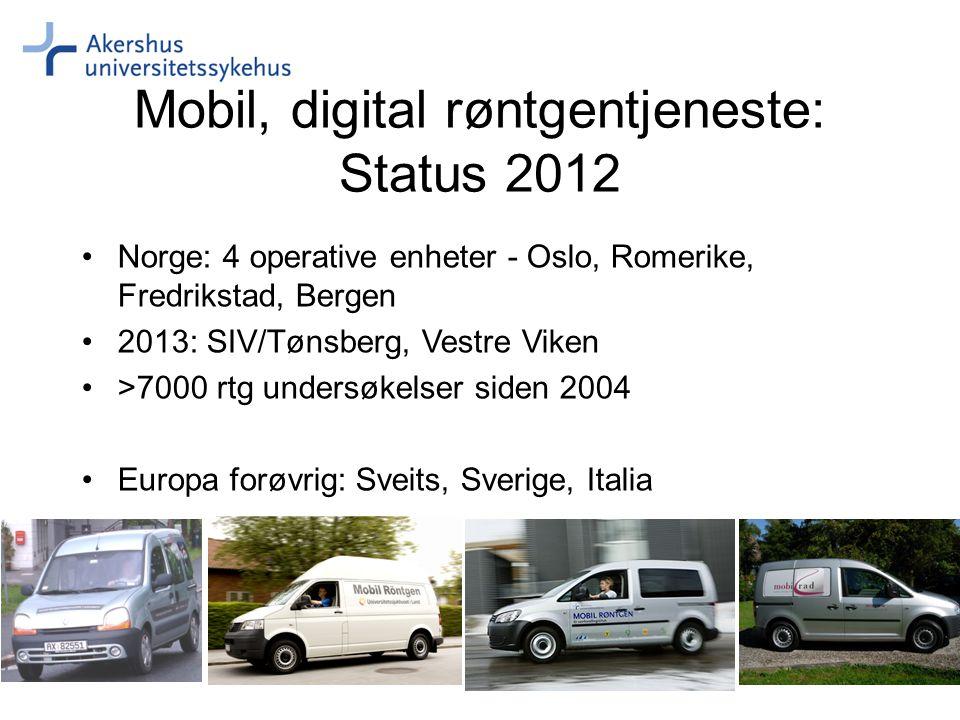 Mobil, digital røntgentjeneste: Status 2012