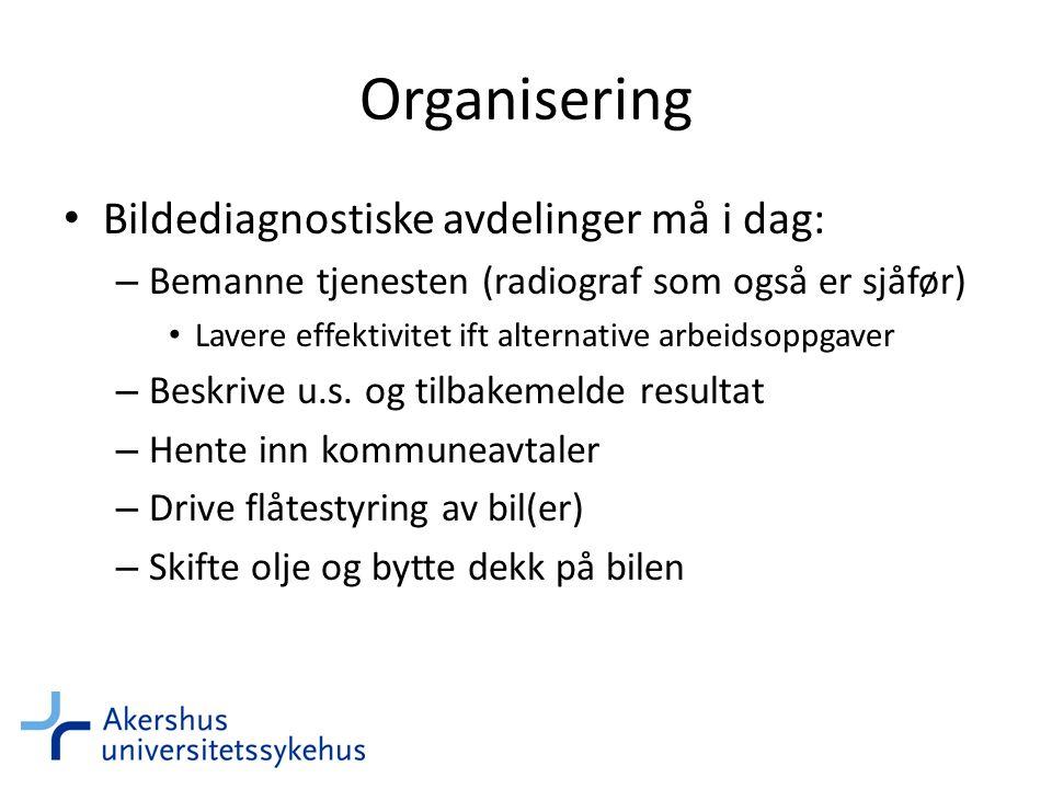 Organisering Bildediagnostiske avdelinger må i dag: