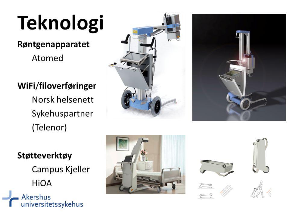 Teknologi Røntgenapparatet Atomed WiFi/filoverføringer Norsk helsenett
