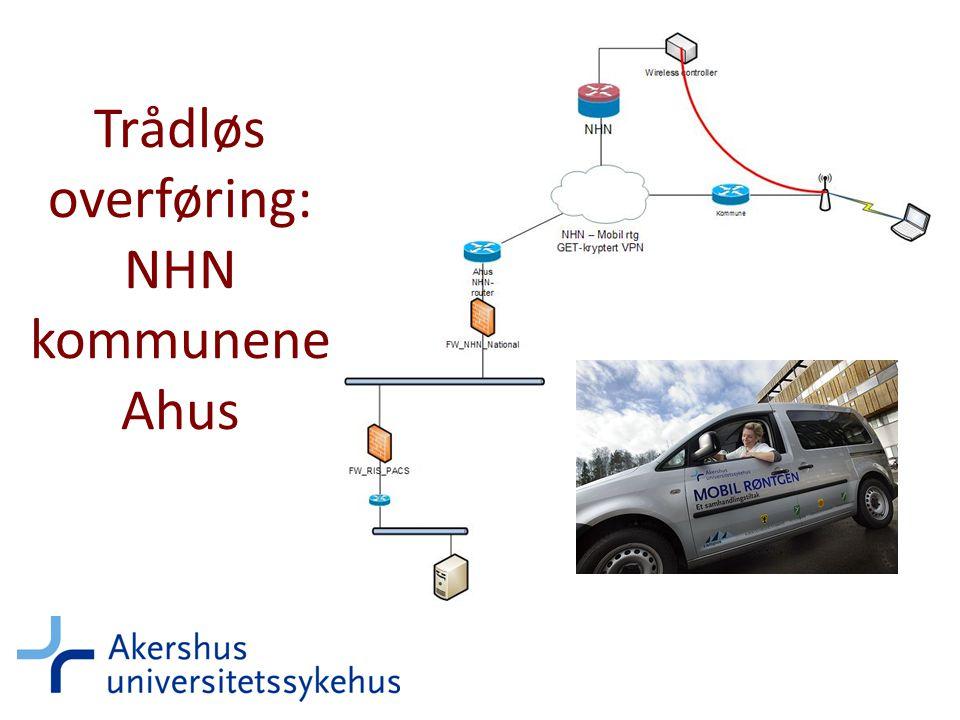 Trådløs overføring: NHN kommunene Ahus