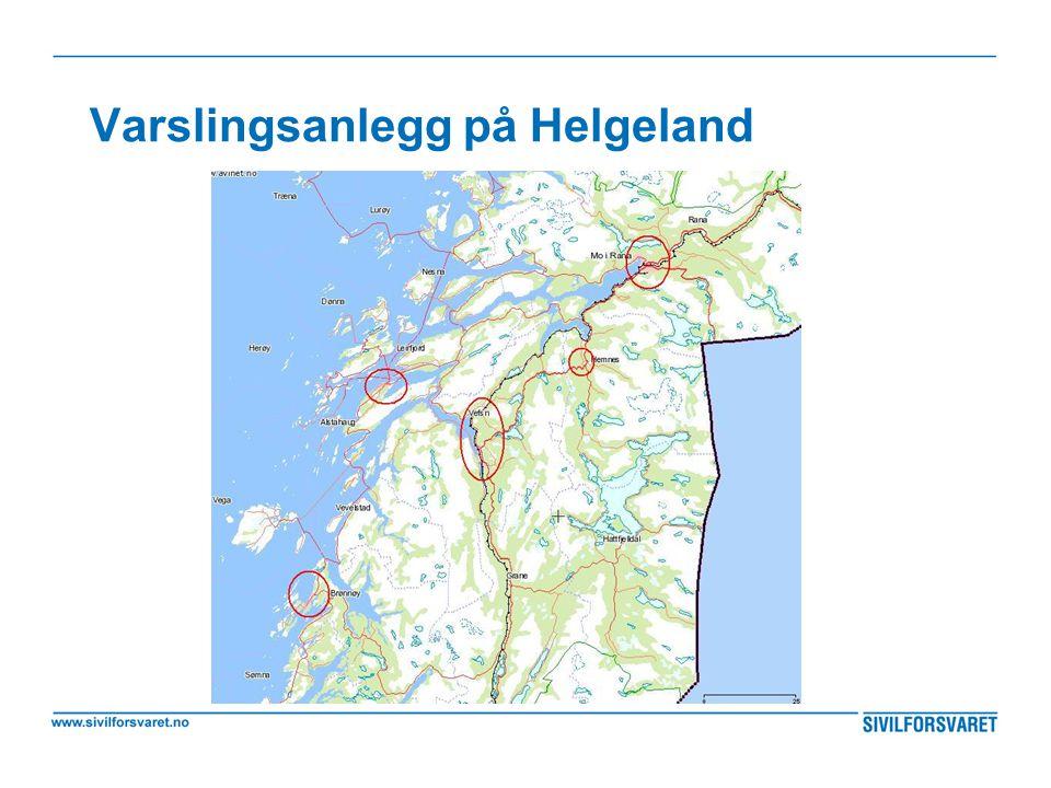 Varslingsanlegg på Helgeland