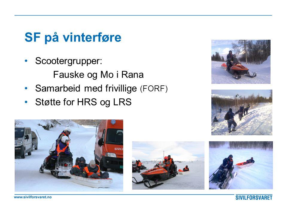 SF på vinterføre Scootergrupper: Fauske og Mo i Rana