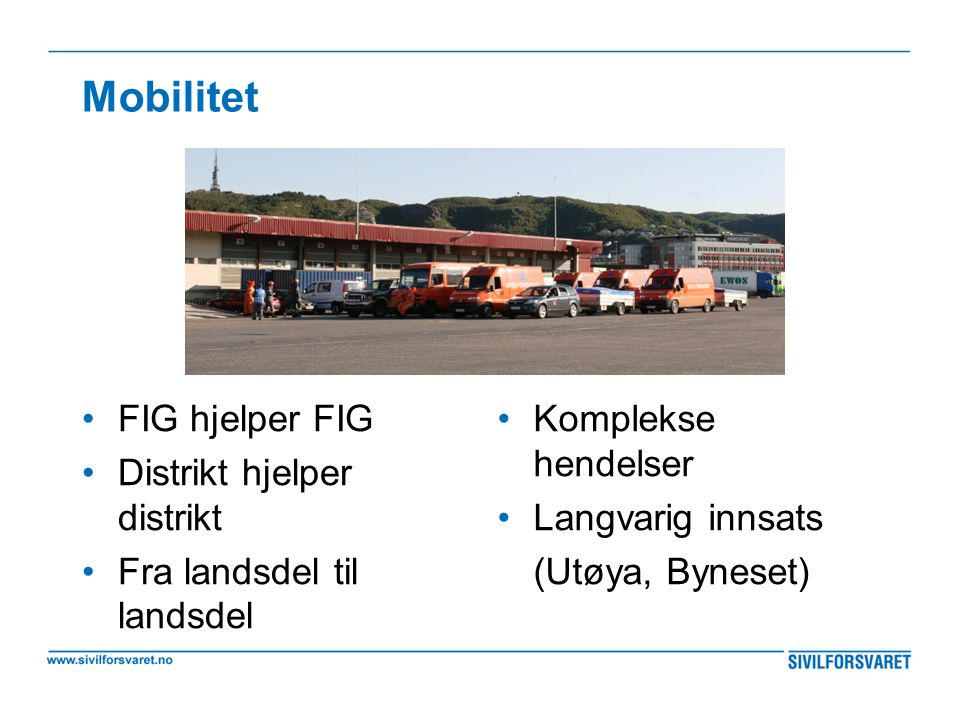 Mobilitet FIG hjelper FIG Distrikt hjelper distrikt