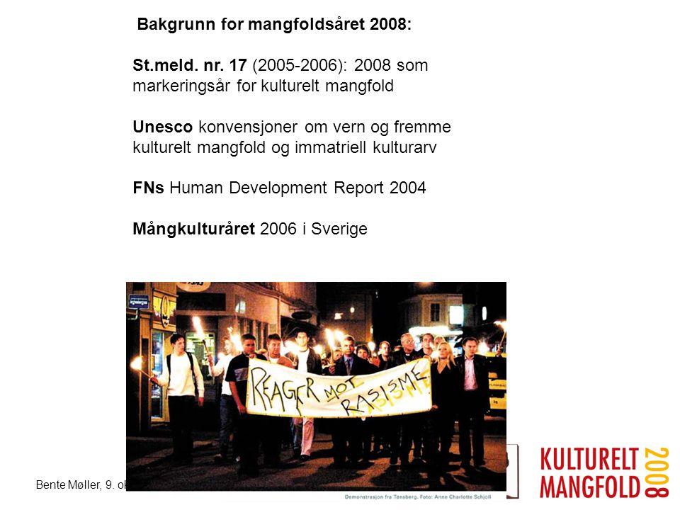Bakgrunn for mangfoldsåret 2008: