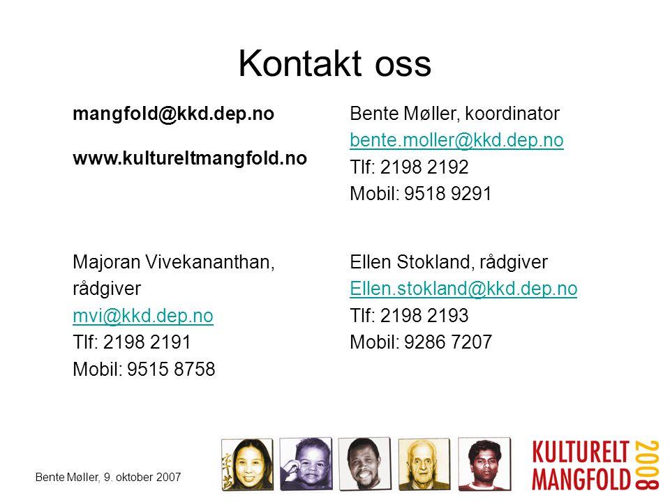 Kontakt oss mangfold@kkd.dep.no www.kultureltmangfold.no