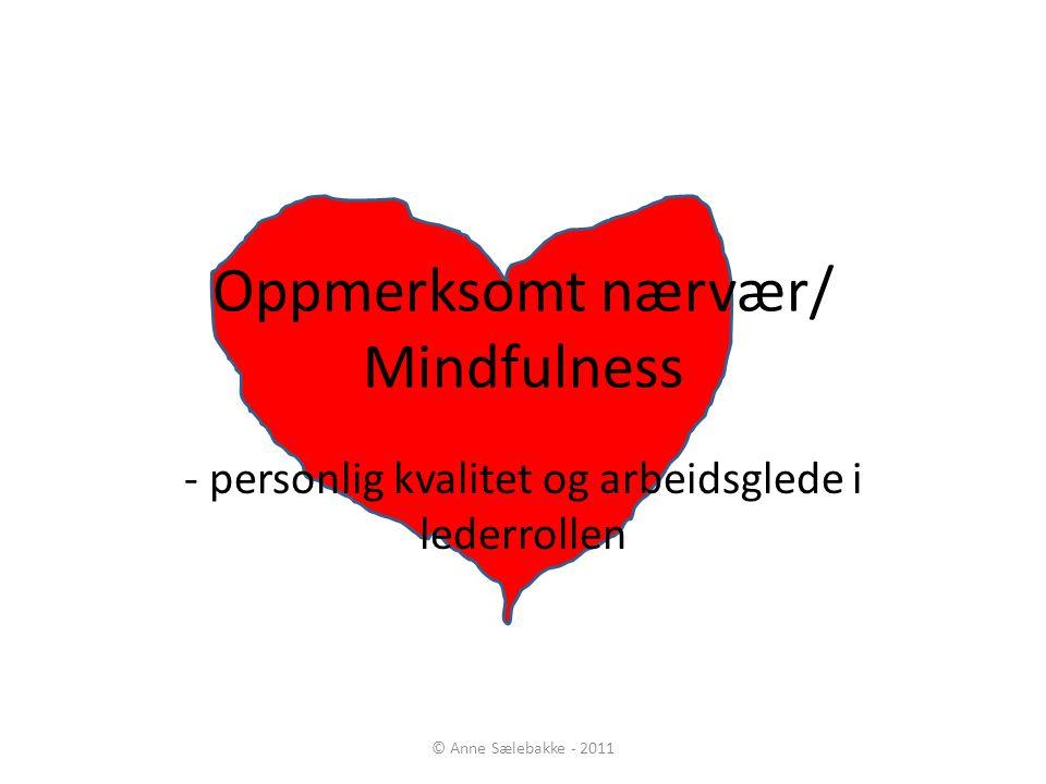 Oppmerksomt nærvær/ Mindfulness