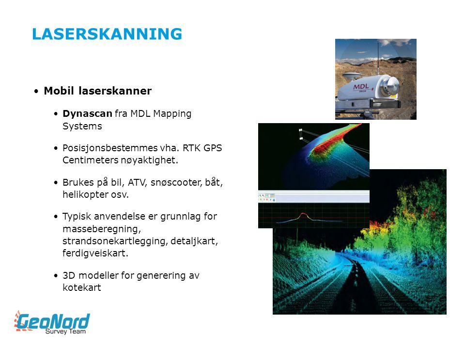 LASERSKANNING Mobil laserskanner Dynascan fra MDL Mapping Systems