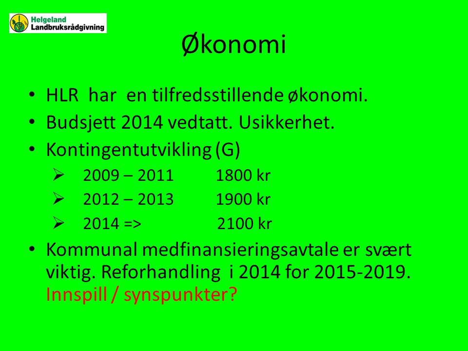 Økonomi HLR har en tilfredsstillende økonomi.