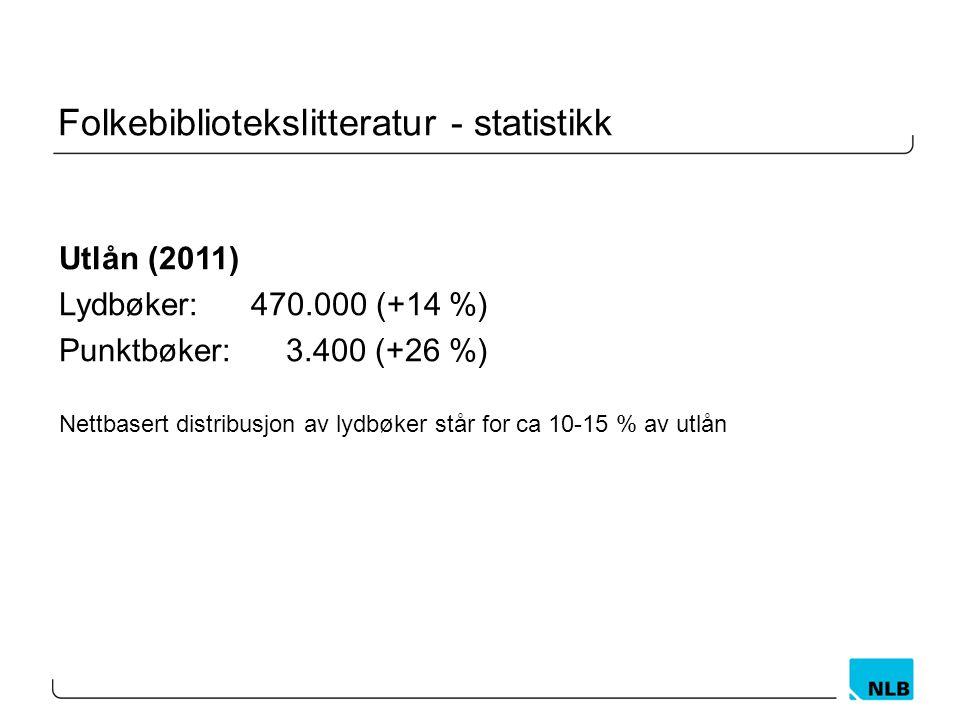 Folkebibliotekslitteratur - statistikk