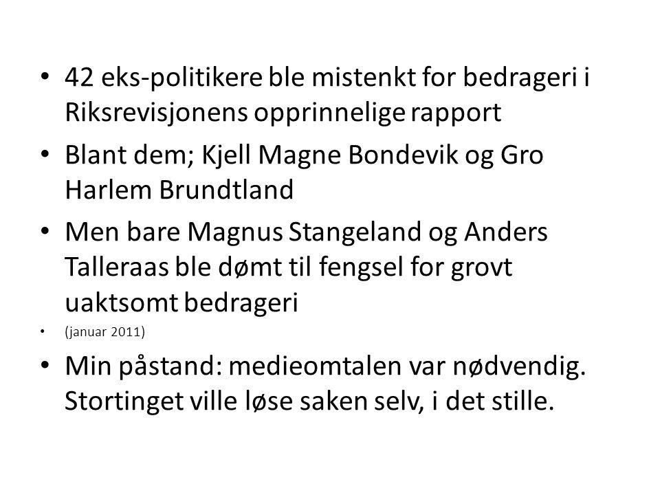 Blant dem; Kjell Magne Bondevik og Gro Harlem Brundtland