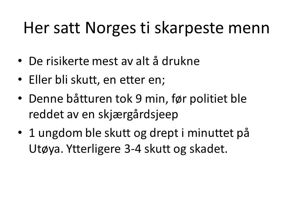 Her satt Norges ti skarpeste menn