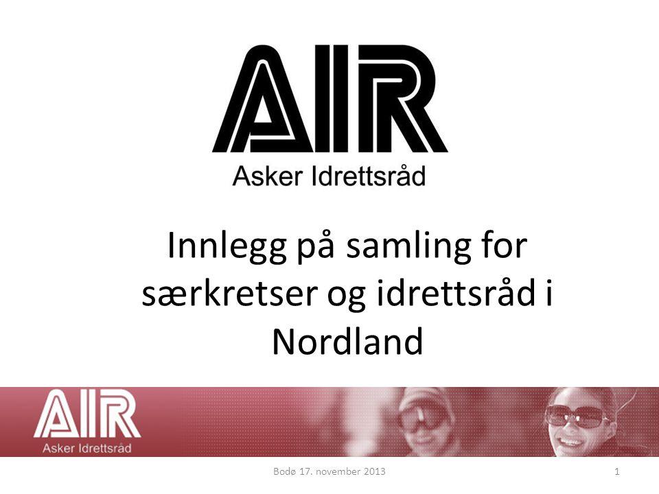 Innlegg på samling for særkretser og idrettsråd i Nordland