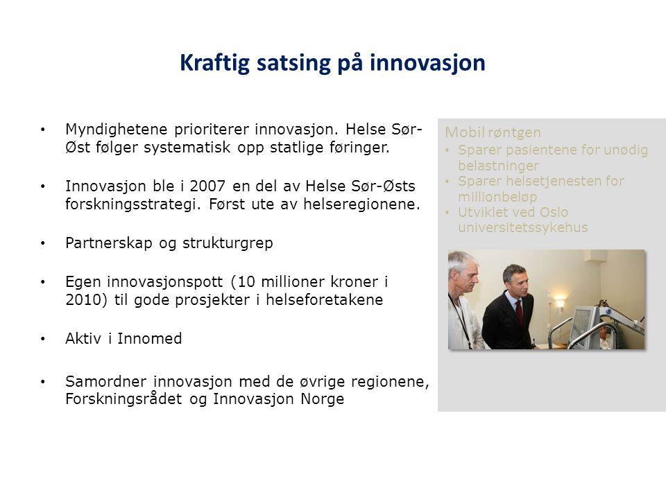 Kraftig satsing på innovasjon