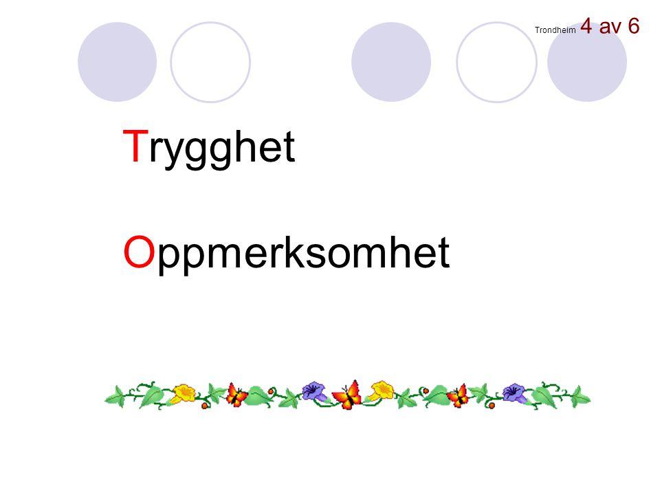 Trondheim 4 av 6 Trygghet Oppmerksomhet