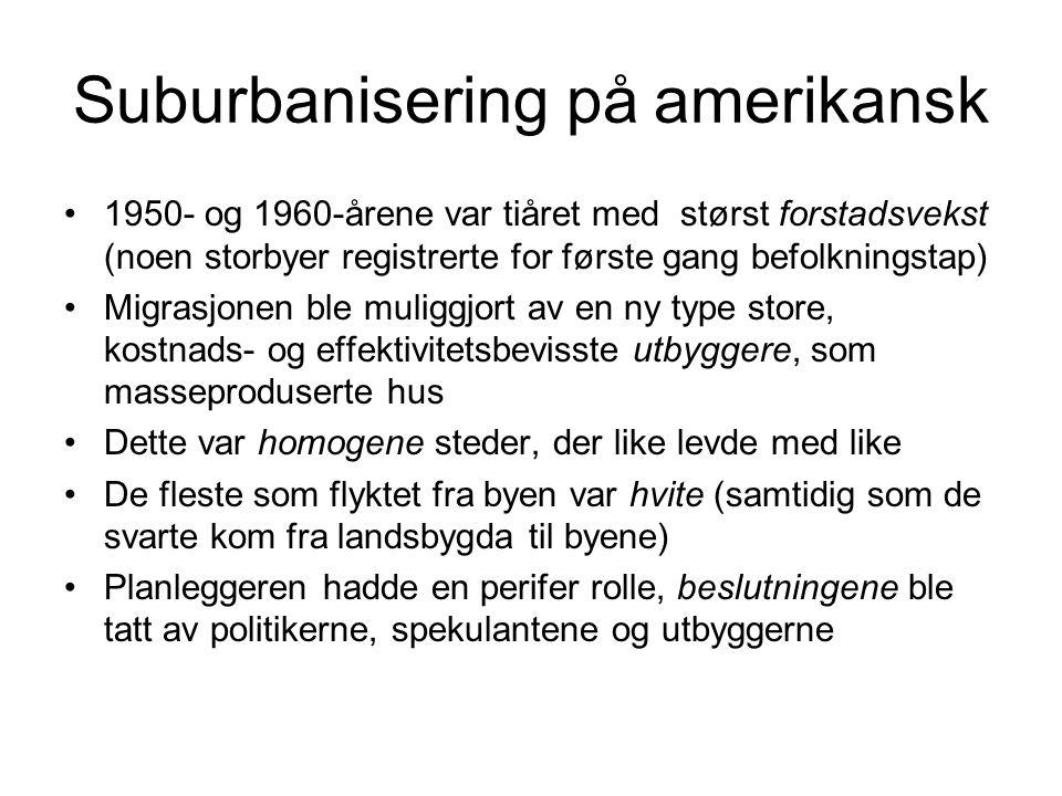 Suburbanisering på amerikansk