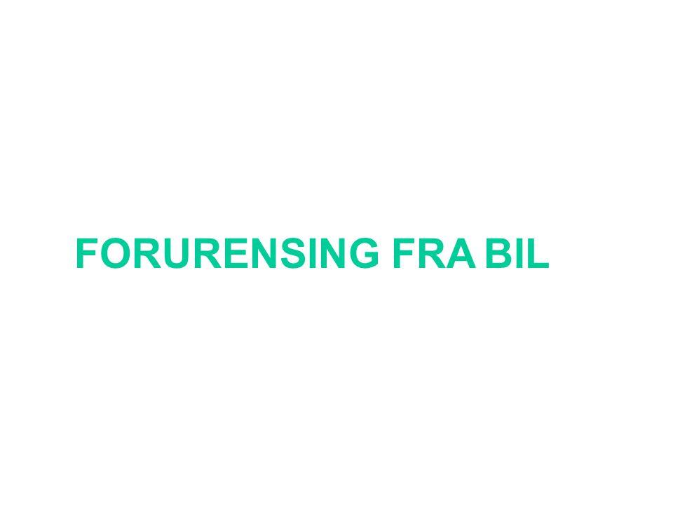 FORURENSING FRA BIL