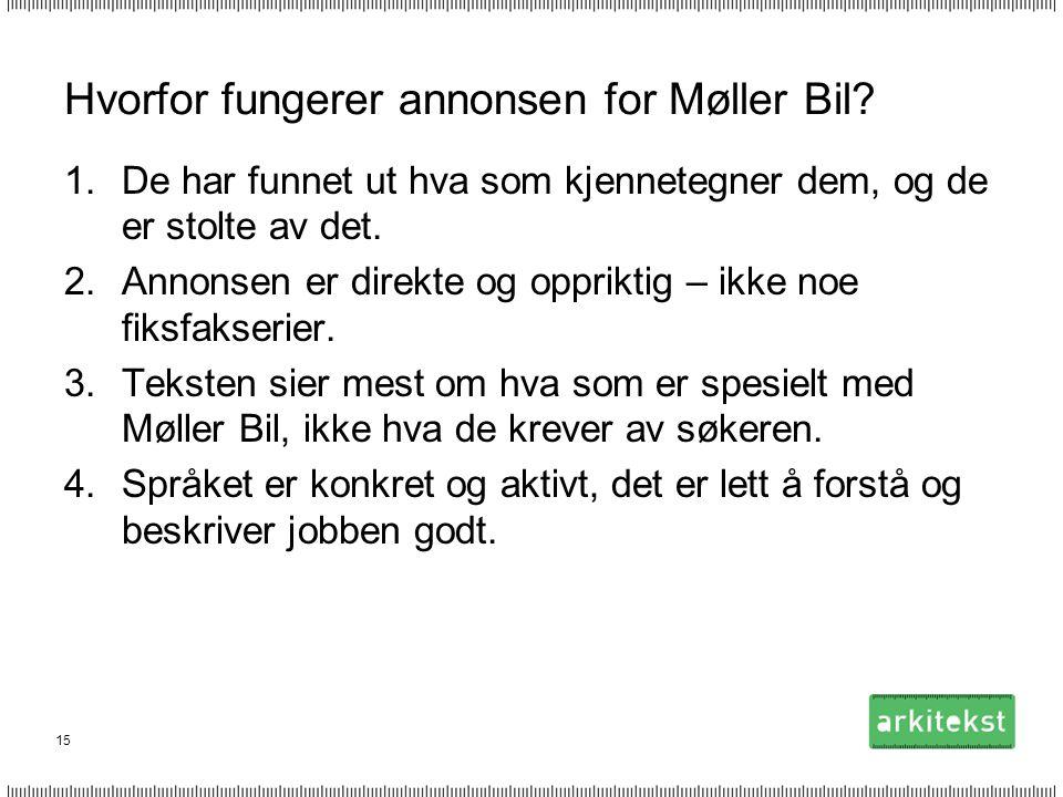 Hvorfor fungerer annonsen for Møller Bil