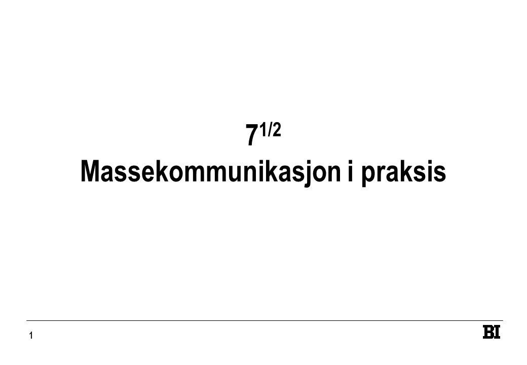 71/2 Massekommunikasjon i praksis