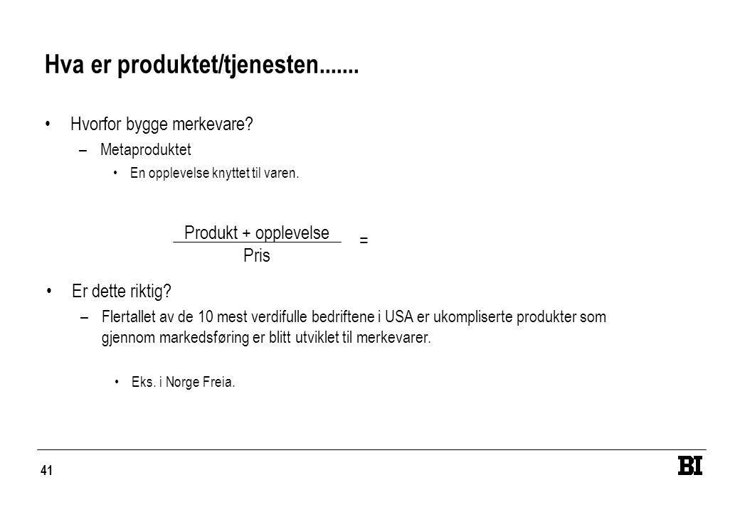 Hva er produktet/tjenesten.......