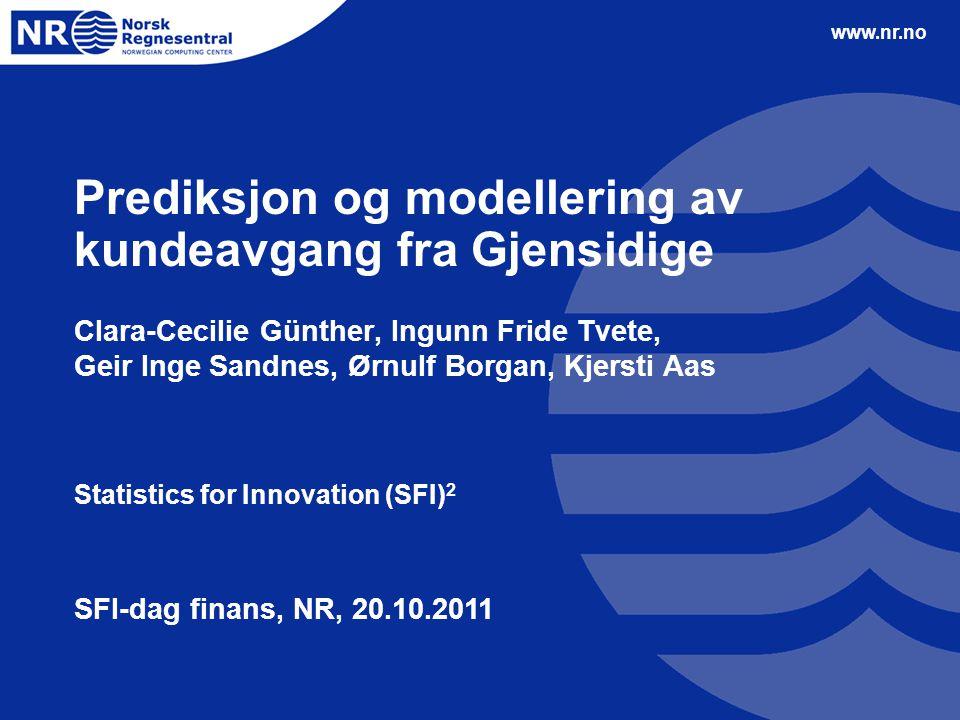 Prediksjon og modellering av kundeavgang fra Gjensidige