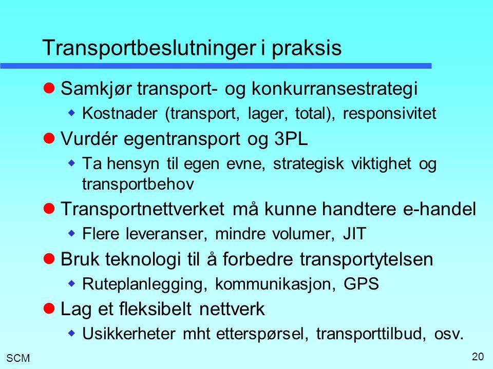 Transportbeslutninger i praksis