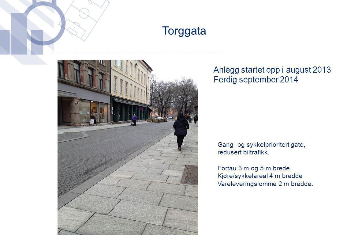 Torggata Anlegg startet opp i august 2013 Ferdig september 2014