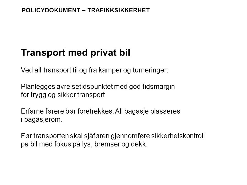 Transport med privat bil
