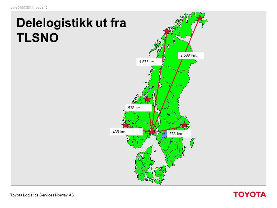 Delelogistikk ut fra TLSNO