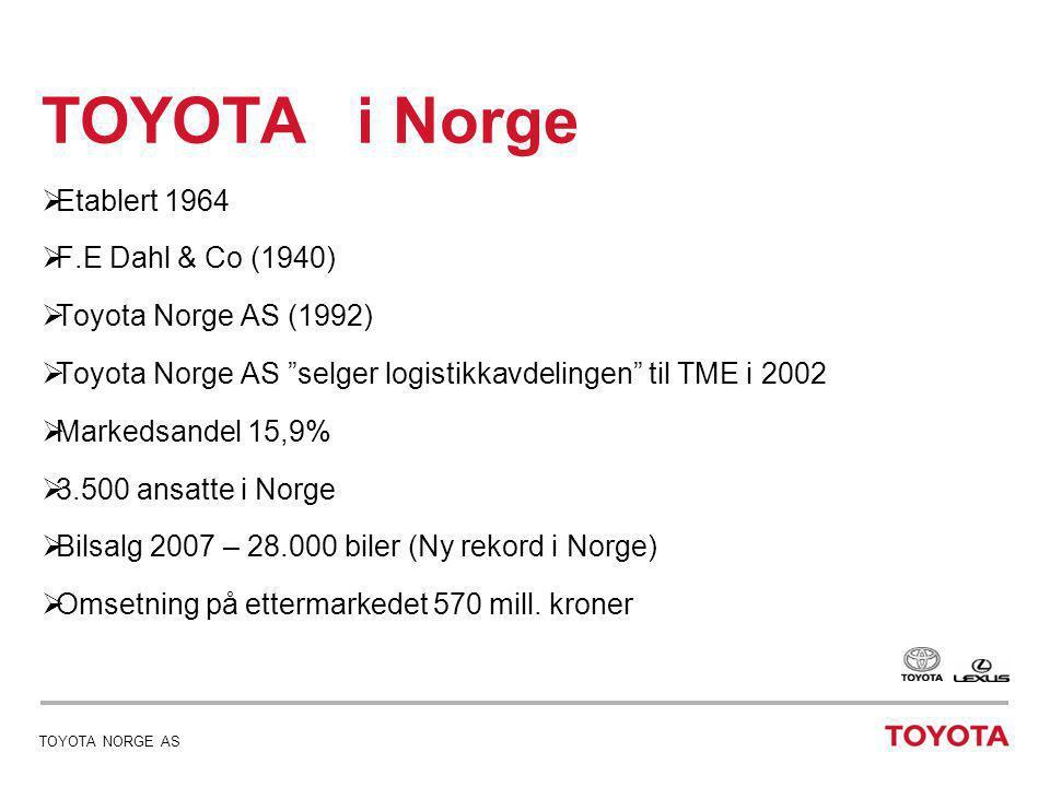 TOYOTA i Norge Etablert 1964 F.E Dahl & Co (1940)