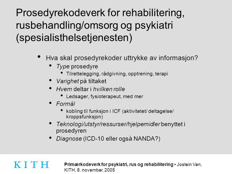 Hva skal prosedyrekoder uttrykke av informasjon
