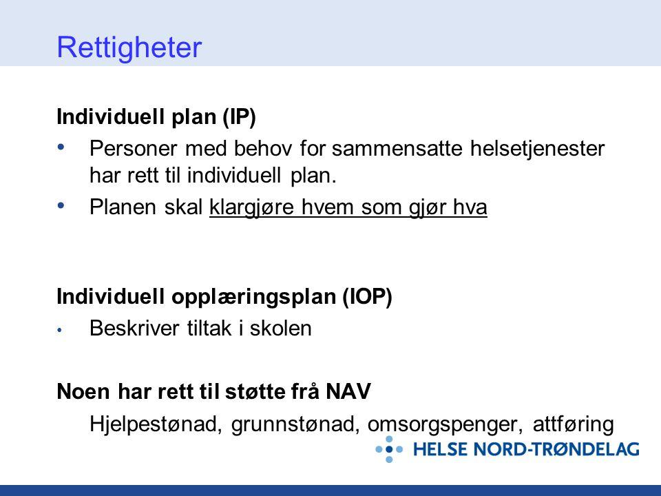 Rettigheter Individuell plan (IP)