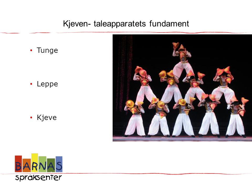 Kjeven- taleapparatets fundament
