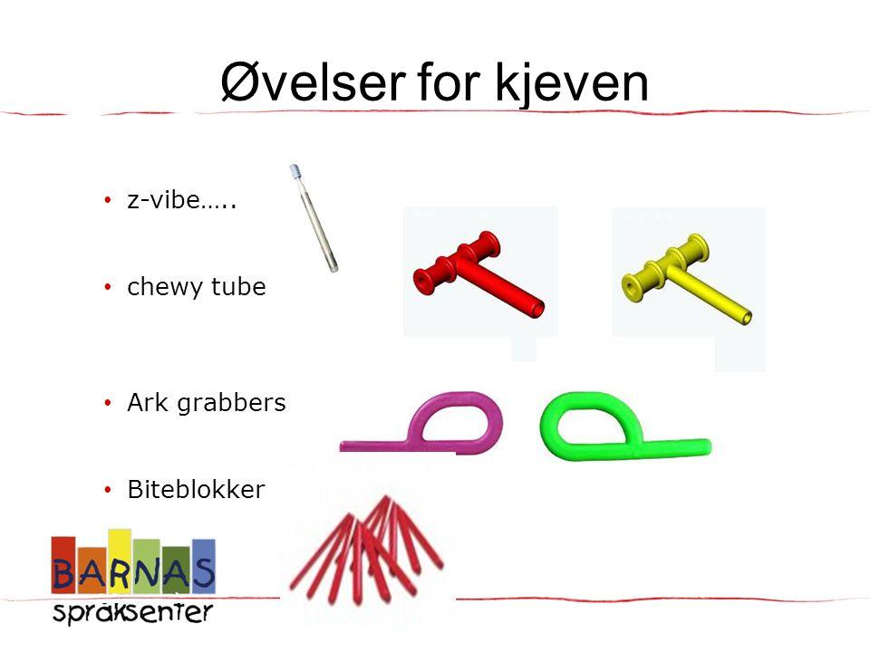 Øvelser for kjeven z-vibe….. chewy tube Ark grabbers Biteblokker