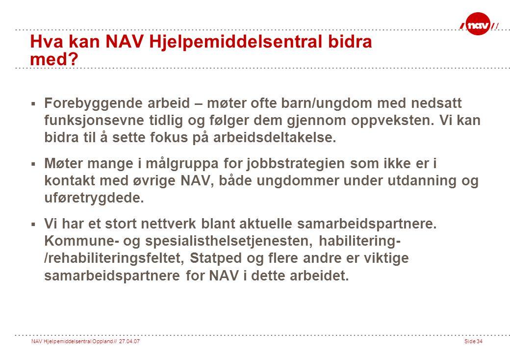 Hva kan NAV Hjelpemiddelsentral bidra med