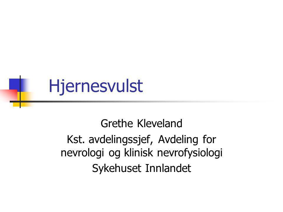 Kst. avdelingssjef, Avdeling for nevrologi og klinisk nevrofysiologi