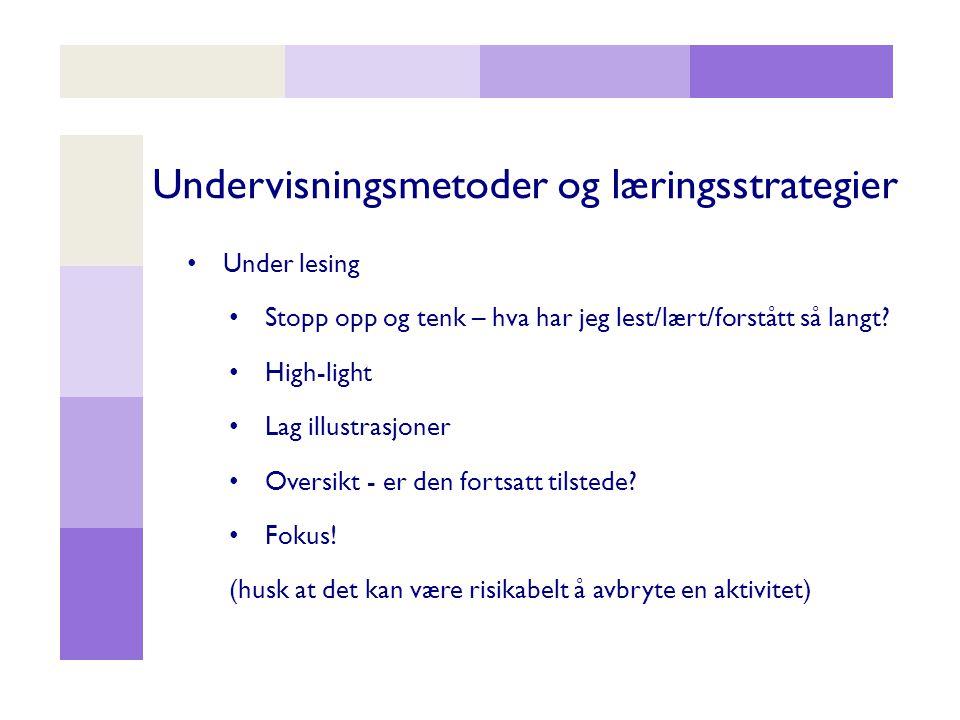 Undervisningsmetoder og læringsstrategier