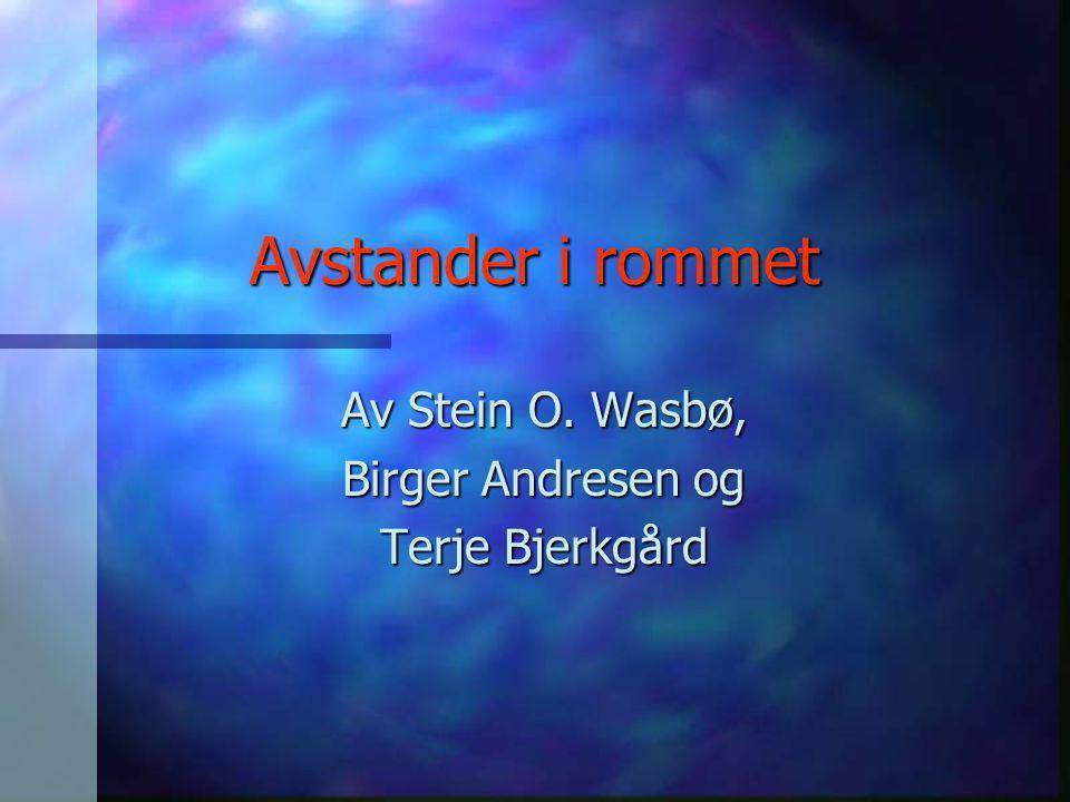 Av Stein O. Wasbø, Birger Andresen og Terje Bjerkgård