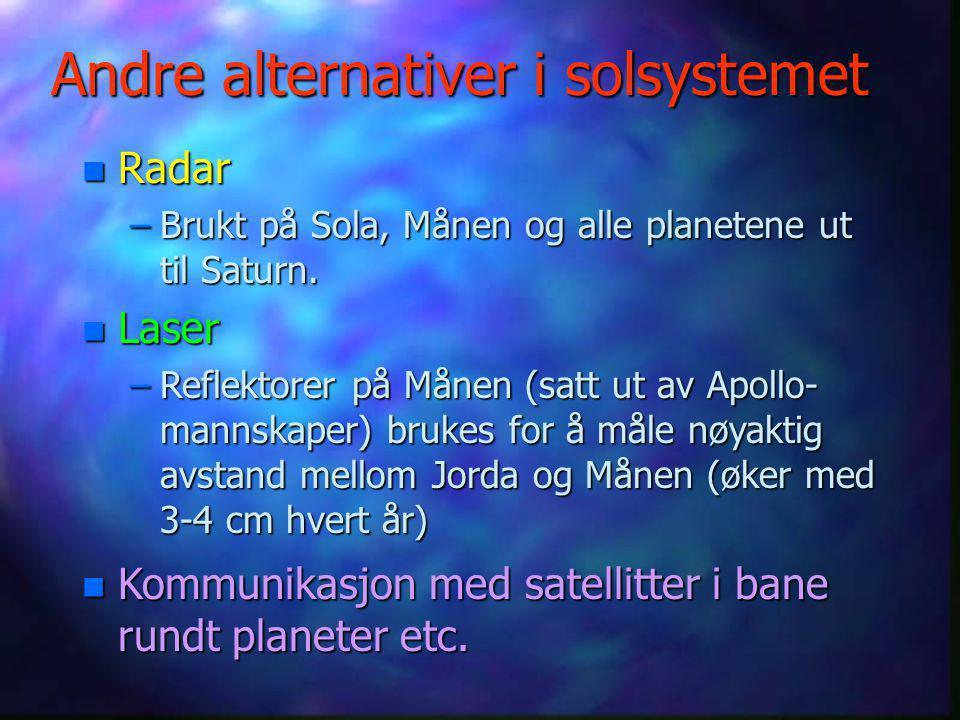 Andre alternativer i solsystemet