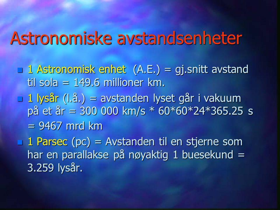 Astronomiske avstandsenheter